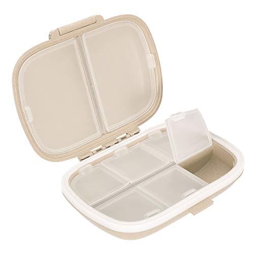 Girls\'love talk Tablettenbox 7 Tage,8 Fächer Feuchtigkeitsbeständig Pillendose Tablettendose,Medikamentenbox für Reise & Täglicher Gebrauch(Primary Color)