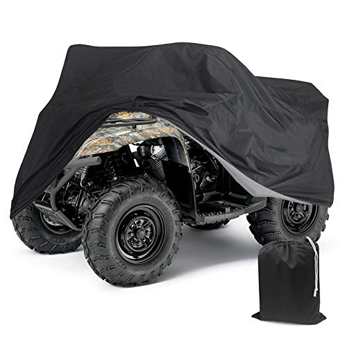 Tokept 190T Black Quad Bike ATV ATC Rain Waterproof Cover XXL Size 88'' x 39.2'' x 42.4'' (Black, XXL)