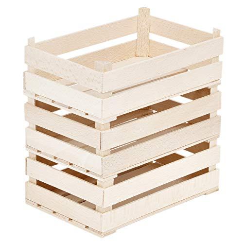 BARTU Holz Kisten 3 Dekokisten Natur Holzstiege Stiegen Kaufladenzubehör Holzspielzeug