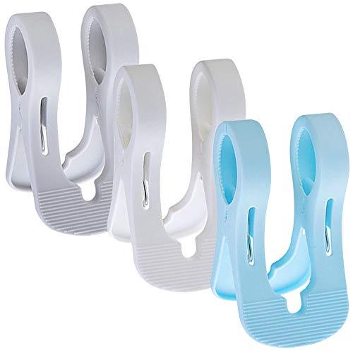 Gresunny 9STÜCKE Strandtuch Clips Kunststoff Handtuchhalter Mehrzweck Winddicht Wäscheklammern Doppel Handtuchclips Handtuch Klammer für Sonnenliegen Liegestühle Pool Stühle Wäsche Wäscheleine