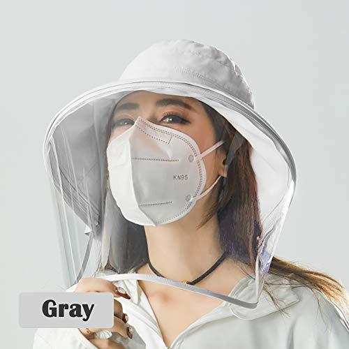 H·Aimee Schutzkappe für Gesicht,Anti-Tropfen,Spritzschutz,Staubdicht,Anti-Tropfenschutz,Staubdicht,Vollgesichtschutz Mehrfarbig