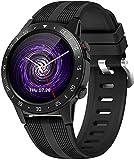 PKLG Orologio intelligente da uomo e da donna ES sfigmomanometro cardiofrequenzimetro IP67 Impermeabile Sport Fitness Tracking GPS Bussola Barometro SIM Card Watch (A)