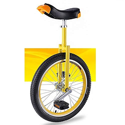 """HWLL Einräder 20/18/16 Zoll Einrad, rutschfeste Räder Einrad, Stand Balance Radfahren Übung Fitness für Erwachsene, Anfänger, Trainer (Size : 20\"""")"""