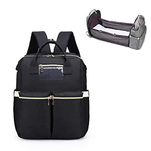 XINGYUE Bolso cambiador de pañales para bebé, portátil, de gran capacidad, plegable, mochila para cochecito, para viajes al aire libre