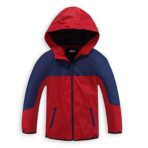 M2C Boys Quick Dry Full-Zip Hooded Light Windproof...