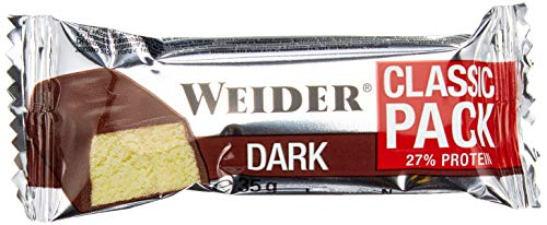 Weider Body Shaper, 40% Protein Bar, Dark-Chocolate, 1er Pack (24x 32g Riegel)