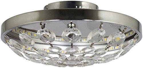Ranex LED-Deckenleuchte aus Metall mit fest eingebauter LED-Leiste, 590 lm, warm weiß 6000.498