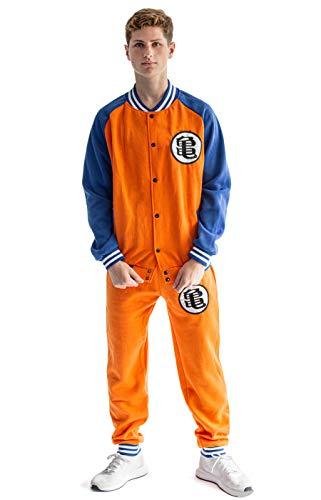 Dragon B. Baseball Style Trainingsanzug | Jacke und Hose im Son Goku Design | Größe: S