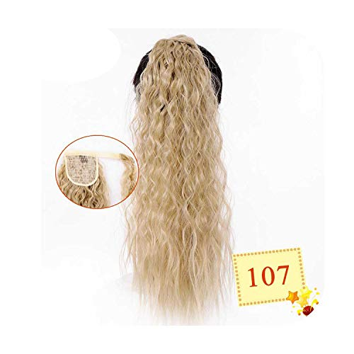 Long Corn Curly Synthetic Ponytail Wrap On Clip Hairpieces For Women Black Brown Hair Tail False Hair-107-20Inches