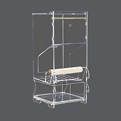 WSXD Alimentador del pájaro del Loro Jaula del pájaro, Loro del alimentador automático de Bird Box alimentador del pájaro Material a Prueba de Fugas Depósito de Papel Entrega rápida de