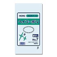 シモジマ HEIKO ヘイコーポリエチレン袋 0.03mm No.7  紐なし 1000枚入 6610701