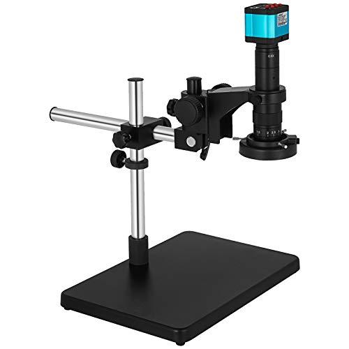 VEVOR 14MP HDMI Microscope 180X C-Mount Lens Big Boom Stand 32GB TF Cards 144 Illumination Light Lamp Industry Microscope