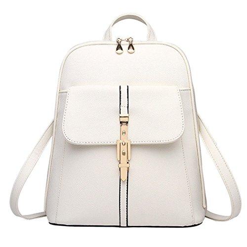 Women Faux Leather Satchel Shoulder Backpack School Rucksack Bag Travel...