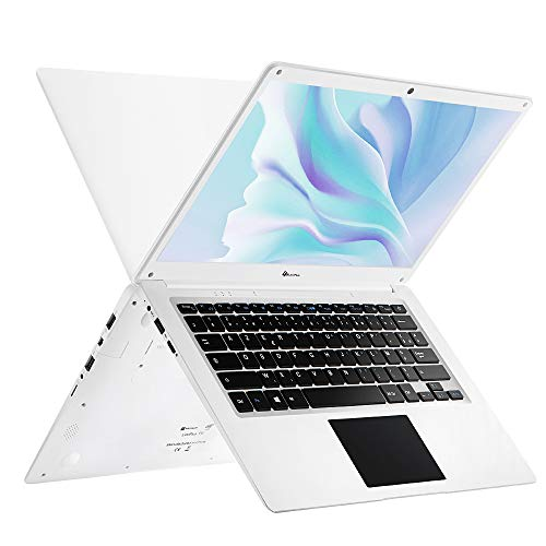LincPlus Laptop-Display Full HD 14 Zoll, Intel Celeron N3350 Prozessor, 4 GB RAM 64 GB Speicher, Windows 10 im S-Modus, Weiß