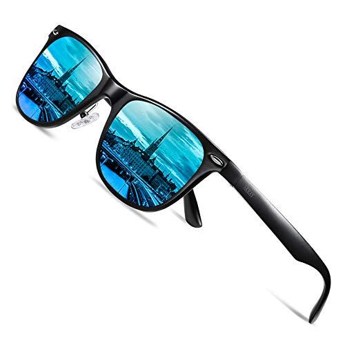 AKRAY Gafas de sol polarizadas para hombre con marco de aleación de metal premium UV400 protección 8559