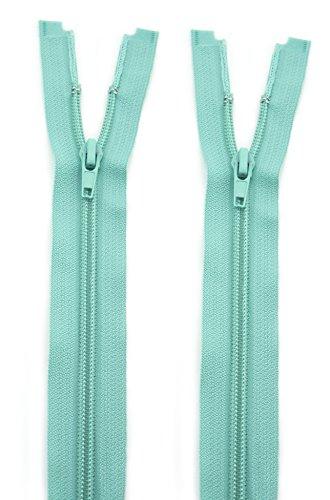 HAND® 2 Stück Nr. 7 Pastellgrünes Nylon mit offenem Ende Automatische Reißverschlüsse 70 cm L x 3 cm B