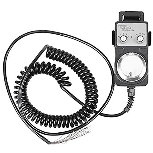 apofly Electrónico Handwheel Generador de pulso Colgante Volante 5v CNC máquina herramienta con soporte base negro