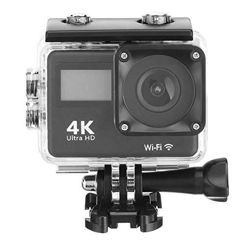 FENGSHUAI Action Kamera, 4K Touch Dual Screen Sport DVWIFI Fernbedienung Outdoor wasserdichte HD Kamera Tauchkamera,Schwarz