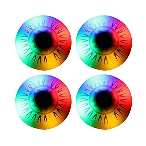 4Pcs Light Up Inline Skate Wheels, Replacement Roller Skating Wheels, Colorful LED Flashing Roller Skates Wheels for Kids & Teens