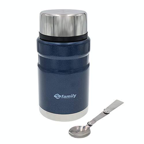 Termo para Comida Frasco Aislada de Acero Inoxidable para Alimentos Bebida Sopa Termo Térmico para Sólido y Líquido para Adultos Niños y Bebés (Azul 500ml)
