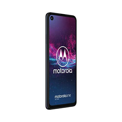 Motorola One Action (6.3 Pouces, 4 Go RAM, 128 Go ROM, Double Nano SIM, Android One) Denim Blue [Exclusivité Amazon]