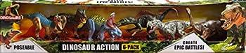 Kids Galaxy Dinosaurs Poseable Create Epic Battles 6 Pack Set
