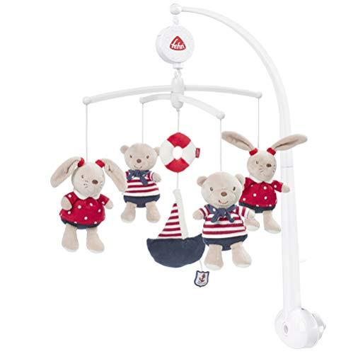 Fehn 078190 Musik – Mobile Ocean Club – Spieluhr – Mobile mit Teddys – Melodie
