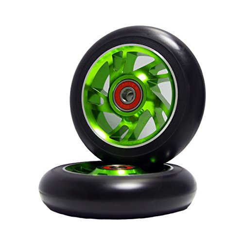 Z-FIRST 2Pcs 110mm Pro Stunt Scooter Wheels with ABEC 9 Bearings Fit...