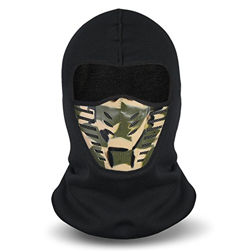 Balaclava Face Mask, Winter Fleece Windproof Ski Mask for Men and Women, Army Green, One Size