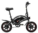 Bicicleta Eléctrica Plegable Dyu D3F, Ruedas 14', 20 Km/hy 40 Km de Kilometraje,...