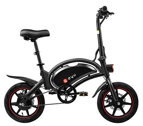 Bicicleta Eléctrica Plegable Dyu D3F, Ruedas 14', 20 Km/hy 20 Km de Kilometraje, Bicicleta Eléctrica con Pedales, 36V 6Ah