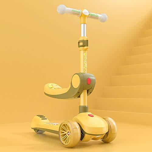 XINKA Kinderscooter Kinderroller Kinderroller kann sitzen und auf einem Fuß fahren gleiten schieben klappbar 8...