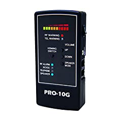 NEWEST MODEL RELEASE - SPY HAWK PRO-10G COUNTER SURVEILLANCE BUG SWEEP is the # 1 SELLING PORTABLE SWEEP UNIT to locate ACTIVE CELL PHONE & GPS TRACKER DETECTION - Offers Outstanding Electronic RF Signal Detection - Sensitive Portable GPS Spy Bug Swe...