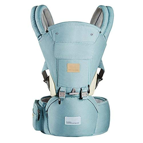 Ergonomic 360° Baby Soft Carrier, Comfortable Adjustable Positions,Breastfeeding Fits All Newborn Toddler ,HipSeat Infant Child Carrier, All Seasons,Perfect for Hiking Shopping Travelling(Green)