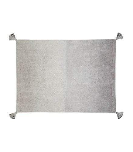 Lorena Canals Ombre Tapis Lavable, Coton, Vert émeraude, 120 x 160 x 30 cm