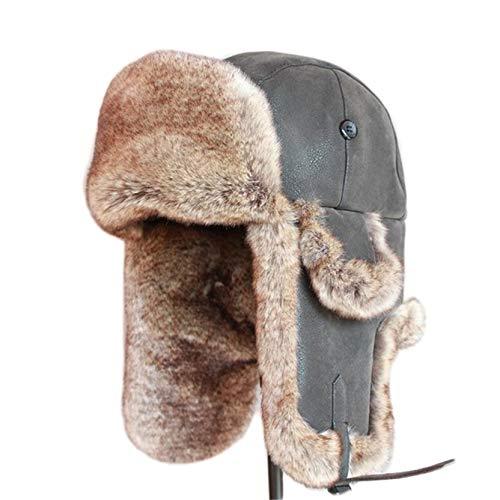 JOYOTER Sombreros de Bombardero Unisex Sombrero de Nieve al Aire Libre para Clima frío Invierno a Prueba de Viento Trooper Que Mantiene Calientes Gorras de Motocicleta