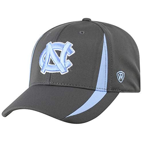Top of the World North Carolina Tar Heels Men's Fitted Hat Icon, Charcoal, One Fit