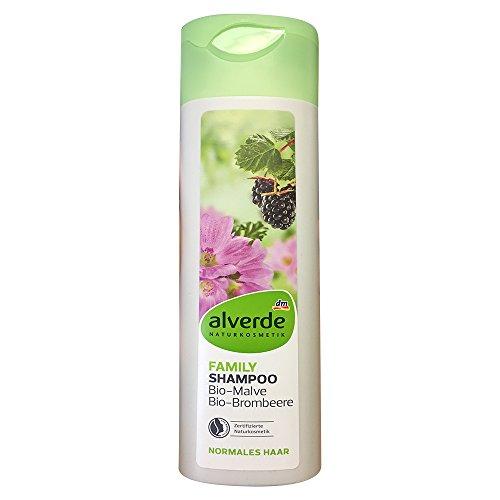 alverde NATURKOSMETIK Family Shampoo Bio Malve Brombeere (300ml Flasche)