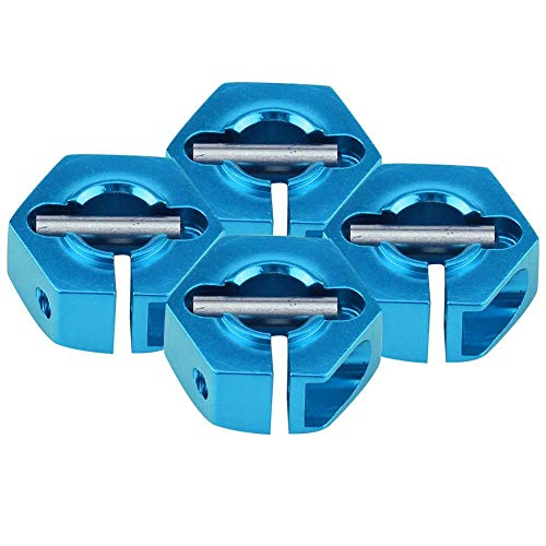 Dilwe Rad-Sechskant-Adapter, 12mm Universal-Rad-Sechskant-Adapter für HSP Sakura 1/10 RC Auto(5 mm / 0,197 Zoll- Blau)