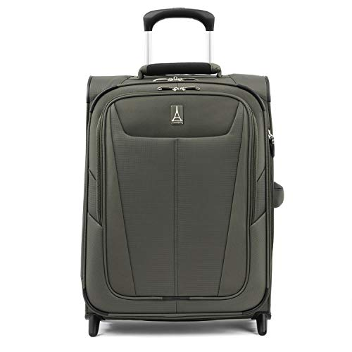 Travelpro Maxlite 5-Softside Lightweight Expandable Upright Luggage, Slate Green, Carry-On 20-Inch