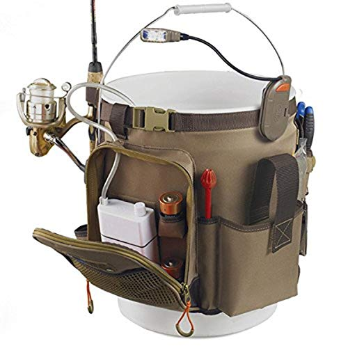 Wild River by CLC WL3506 Tackle Tek Rigger Lighted Bucket Organizer with Plier Holder and Retractable Lanyard, Bucket...