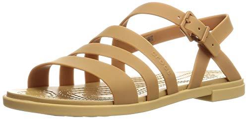 Crocs Sandalias para niña Tulum Toe Post W para tiempo libre y ropa deportiva, color Dorado, talla 42.5 EU