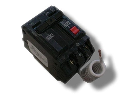 GE THQB2120GFT Bolt-On Mount Type THQB Self-Test Ground Fault Circuit Interrupter 2-Pole 20 Amp 120/240 Volt AC