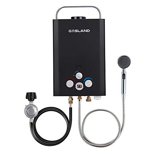 Tankless Water Heater, GASLAND Outdoors BE158B 1.58GPM 6L Portable Gas Water Heater, Instant Propane...