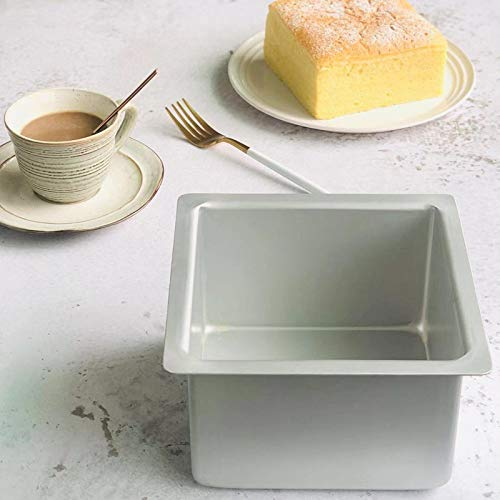 Square Toast Loaf Pan, 4' Aluminum Bakeware Bread Pan, Breads and Meatloaf Homemade Baking Bread Pan