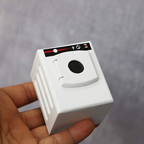 Lai-LYQ Puppenhaus Zubehör, Maßstab 1:12 Mini Simulation Holz Waschmaschine Möbel Szene Modell Kinder Spielzeug Weiß