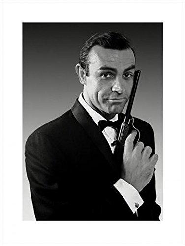 1art1 James Bond 007, Sean Connery, Smoking Poster Kunstdruck (80x60 cm) Inklusive 1x 1art1 Collection Poster
