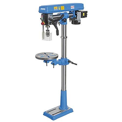 Taladro a columna redondo con transmisión a correa y tabla giratorio y inclinable Fervi 0857
