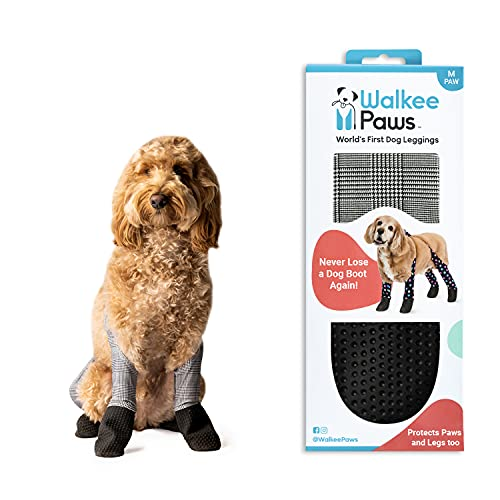 Walkee Paws Adjustable Fit Dog Leggings, As Seen on Shark Tank, The World's First Dog Leggings That are Dog Shoes (Classic, M)
