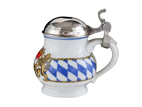 Seltmann Weiden 004.000167 Compact Bayern-Serie - Jarra de Cerveza con Tapa (0,65 L), diseño con Escudo de Baviera